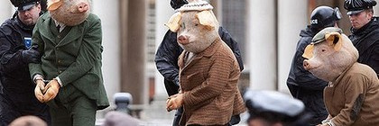 I didn't think pigs wore ascot caps.