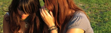 Teenagers gossiping