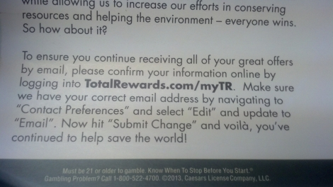 Total Reward's CodeGreen postcard