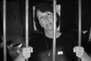 Annoyed behind bars